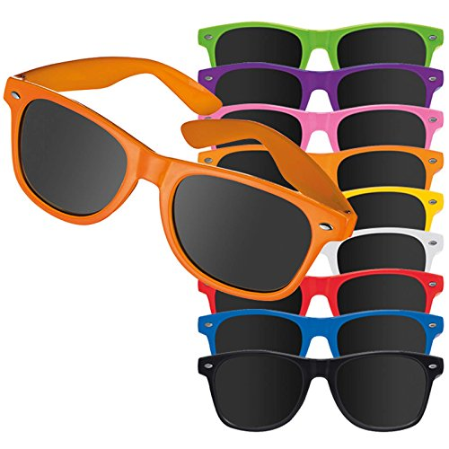 50 stück rote Sonnenbrillen Mila mit Druck Werbung Logo bedrucken