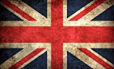 Vintage Look British Union Jack Flagge Aufkleber (UK Aufkleber)