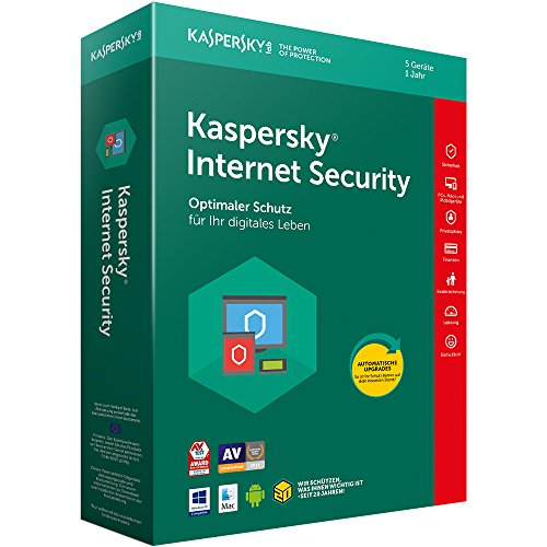 Kaspersky Internet Security 2018 Standard, 5 Geräte, 1 Jahr, Windows/Mac/Android, Download