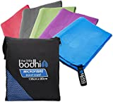 Microfibre Towel with zip carry bag Large or Extra Large sizes - a quick dry towel in 5 stunning colours (blue, green, purple, pink & grey). Great for travel, sports, gym, camping, swim, yoga, pilates, bikram, beach, bath or at home - the perfect travel towel
