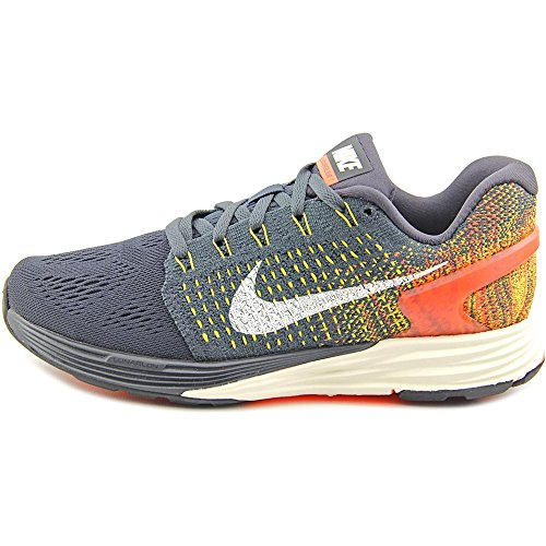 Nike Lunarglide 7, Chaussures de Running Compétition Femme Gris (Anthrct / Sl-Tr Yllw-Hypr Orng)