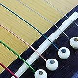 Foxnovo 2-en-1 pont osseux Durable selle écrou Set pour guitare acoustique folk (Ivoire)