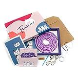 Taumur Set für einfach verstellbare Leine für große Hunde - lila/rosa/hellblau/weiß