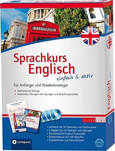 Compact Sprachkurs Englisch einfach & aktiv: Set mit 2 Büchern, 4 CDs, Grammatiktafel und Downloads (Niveau A1 - A2)