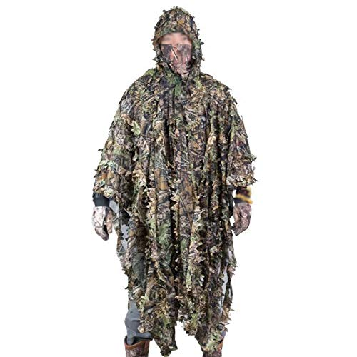 DONG 3D Camouflage Cape, Ghillie Suit Woodland Jagd,Camping Camouflage Fotografie Outdoor, Airsoftschießen,Halloween,OneColor-OneSize