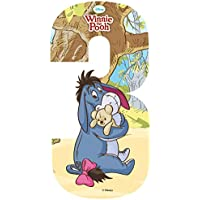 Self Adhesive Wheelie Bin Disney Numbers 17cm - 3 - Winnie the Pooh