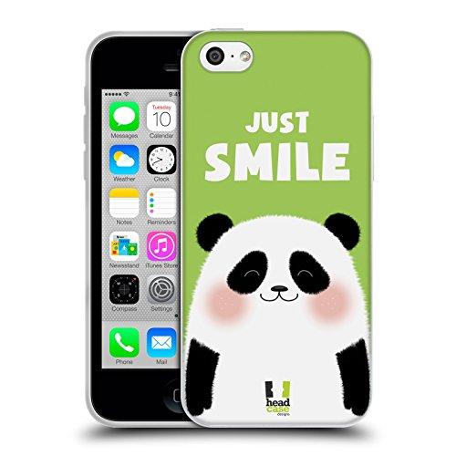 Head Case Designs Occhiali Pattern Hipster Cover Morbida In Gel Per Apple iPhone 5 / 5s / SE Just Smile