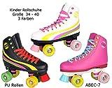 Rollschuhe für Kinder Rollerskates NEU Gr. 34 35 36 37 38 39 40 Pink weiß schwarz