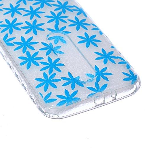 Voguecase® Per Apple iPhone 5 5G 5S, Custodia fit ultra sottile Silicone Morbido Flessibile TPU Custodia Case Cover Protettivo Skin Caso (Fiore pizzo) Con Stilo Penna blu fiore 02