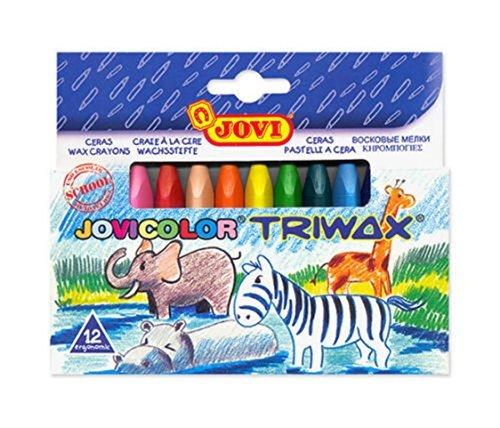 Jovicolor Triwax Schachtel mit 12Bleistifte weich mit Wachs-Farben assorties-146009