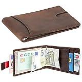 URBANIST™ Geldbörse aus Echt-Leder | Das Premium Herren-Portmonee mit Geldklammer, RFID Schutz und Platz für bis zu 14 Karten | klein & slim