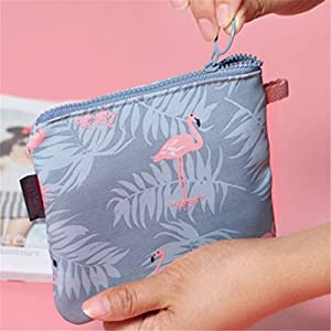 Yesidor Blue Flamingo Sanitary Napkin Storage Bag Hygiene Bags Coin Purse Bag Mini Storage Bag