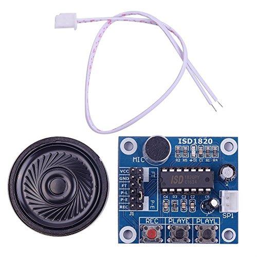 iHaospace ISD1820 Sound Audio Voice Recording Wiedergabe Modul mit Mikrofon Sound Audio + Lautsprecher Lautsprecher