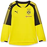 PUMA Kinder BVB Training Sweat with Sponsor Logo Mantel, Cyber Yellow Black, 128