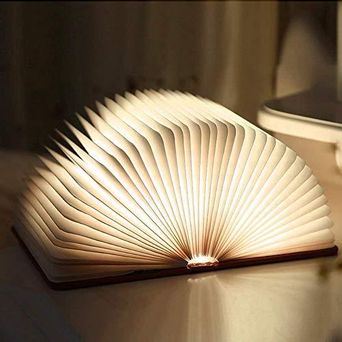 ALBN LED Nachtlicht,Buch-Form Decorative Tischlampe,kreatives Geschenk,(USB-Anschluss Aufladen/Warmweiß) Albion Form