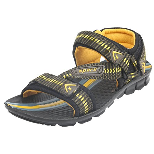 SPARX Olive-Yellow Sandal's Size-8 (SS901)