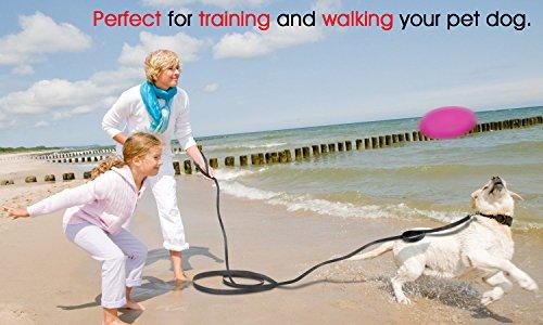 Poppypet Hunde Ausbildung Gehorsam Seil, 20M Lange Haustier Leine, Gute Qualität Nylon Hundetrainingsleine, Hundeleinen Zubehör Schwarz - 2