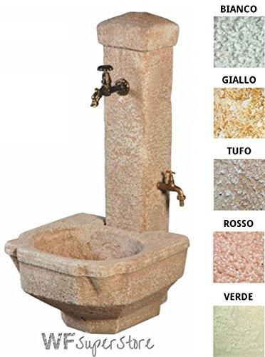 Fontana anticata in pietra ricostruita te terry - fontanella esterno giardino (tufo)