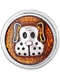 ANDANTE CHUNK Click-Button charm con cierre a presión (Puppy) para pulseras Chunk, anillos Chunk, llaveros Chunk y otros accesorios Chunk