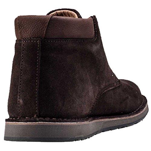 Hush Puppies , Chaussures de ville à lacets pour homme Marron Daim Marron chocolat Chocolate Suede