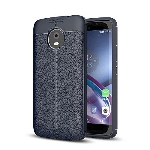 Protege tu teléfono, Para Motorola Moto E4 Plus Litchi textura diseño suave...