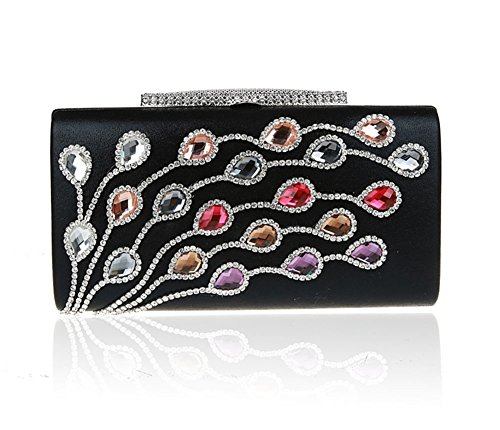 borsa signora diamante/clutch Exquisite/Di alta qualità per banchetti/borsa da sera di moda/pacchetto abito nuziale-F A