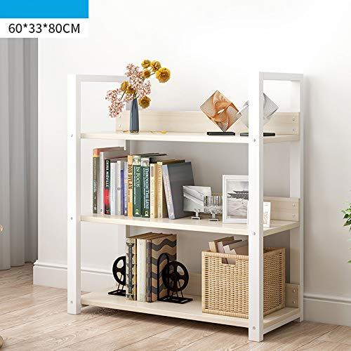 WJH Bücherregal Regal, 5 Stufen Vintage Bücherregal, Industriebootregal, Regal Veranstalter Holz Metallrahmen Möbel Für Home Office-a 60x33x80cm(24x13x31inch) -