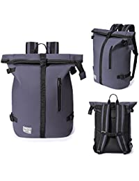 """FREFEATH Pu Leather Laptop Backpack For Women,Men,Students,Travel,Heavty-Duty,High-Capacity,Bucket Bag(12""""X6"""""""