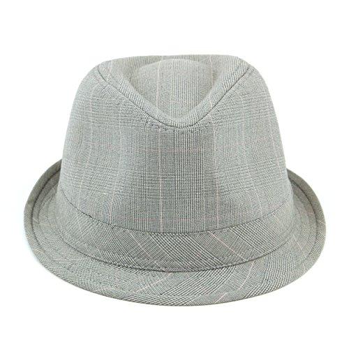 Hawkins Chapeau en tweed de coton simple Gris - Gris clair