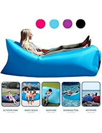 FWQPRA Inflatable Lounger Air Lounge Sofa Beach Bed Couch Dream Chair Lazy Bag For Home Indoor Outdoor Activities