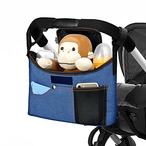 Yarrashop Universale Kinderwagen Organizer Buggy Tasche mit Schultergurt/Deckel