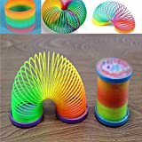 Gemini_mall Mini Rainbow Springs Slinky Toy Party Toys Kids Stocking Fillers Party Favours Supplies Funny Children Party Bag Gifts