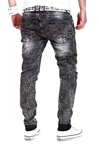 MT Styles Jeans Slim Fit Pantalon RJ-2007 Gris