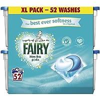 Fairy XL 52 Pack Non Bio Pods Liquitabs Laundry Detergent Wash Capsules Suitable for Sensitive Skin