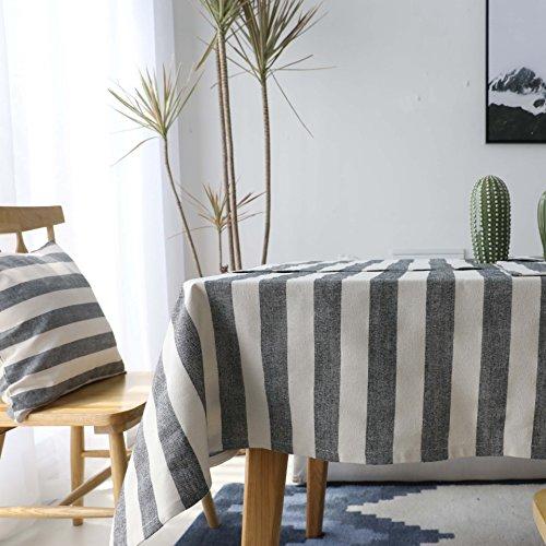 Weanorey Plaid/Striped Print Tischdecke Heißer Leinen und Baumwolle Rechteckige Tischdecke Home Hotel Textile Rechteck Desk140 * 180 cm