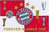 Flagge FC Bayern München Pokale - 100 x 150 cm + gratis Aufkleber, Flaggenfritze®