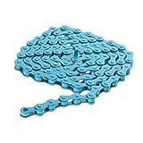 Stee de alta resistencia de velocidad única cadena de bicicleta Fixie-Bicicleta BMX bicicleta Ciclismo, azul, 1/2
