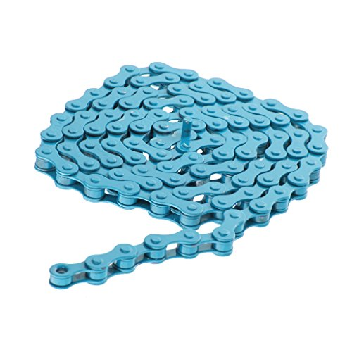chaine-de-velo-engins-fixes-piste-vitesse-chaine-de-bicyclette-1-2x-1-8-taille-unique-bleu
