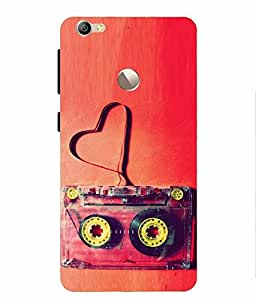 Snazzy Cassette Printed Red Hard Back Cover For LeEco Le 1S, LeEco Le 1S Eco, LETV Le 1S
