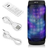 Excelvan AEC Haut-Parleur Enceintes LED Stereo Bluetooth 3.0 TF Carte de Soutien Radio FM Card Réponse Appels Fontion pour Android IOS Téléphone / PC / Tablet / PSP