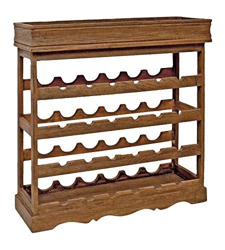 ts-ideen Weinregal Dunkelbraun für 24 Flaschen Flaschenregal Holz Wein Regal Board