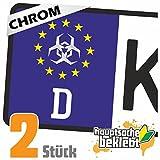 Malware Hazard Kennzeichen Aufkleber Sticker Nummernschild - IN 15 FARBEN