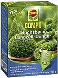 COMPO Buchsbaum Langzeit-Dünger, hochwertiger Spezial-Langzeitdünger, für alle Buchsbaumarten und Hecken, 850 g