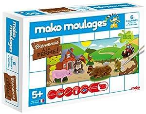 Dujardin - 39011 - Kit De Loisirs Créatifs - Mako Moulages Ferme - 6 Moules