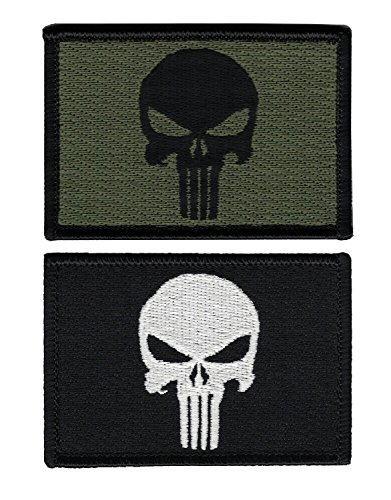 Titan One Europe Hook Fastener Punisher Skull Tactical Military Morale Patch Set Of 2 Patches Castigador Conj. 2 Parches