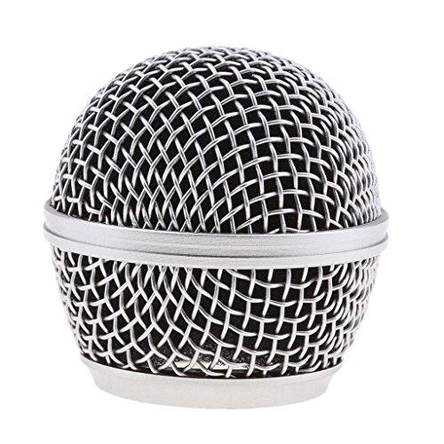 Almencla Ersatz Stahlgitter Mikrofon Grill Kopf - Silber - Grill Kopf