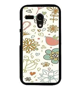 ifasho Designer Phone Back Case Cover Motorola Moto G :: Motorola Moto G (1st Gen) :: Motorola Moto G Dual ( White Tiger Print )
