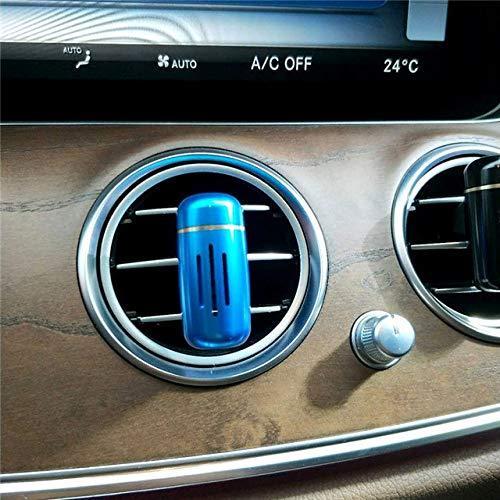SIOJB Mini Deodorante per Auto Clip di Profumo Deodorante per Auto in Auto sfiato Aria Profumo Aroma diffusore balsamo Solido purificatore d'Aria Accessori-Blu