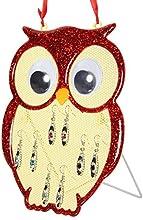 Colores de Charminer 4 diseño de búhos de sharla para colgar con forma de collar con colgante en forma Reino Unido de pendientes de diseño de vestido de fiesta un recipiente para las pelotas libro con función atril para o el expositor de una