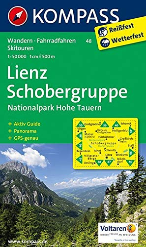 KOMPASS Wanderkarte Lienz - Schobergruppe - Nationalpark Hohe Tauern: Wanderkarte mit Aktiv Guide, Panorama, Radrouten und Skitouren. GPS-genau. ... 1:50 000 (KOMPASS-Wanderkarten, Band 48)